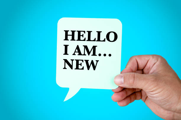 hello i am.new, presentation, self introduction - new stock photos and pictures