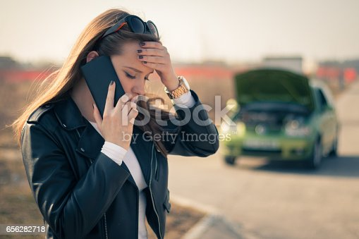 istock Hello, I have a problem with my car! 656282718