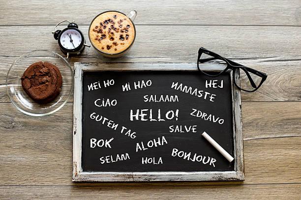 Bonjour, dans différentes langues - Photo