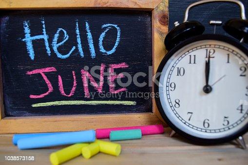 istock Hello June. Back to school concept. 1038573158