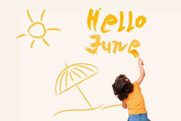 hello june - june stock photos and pictures