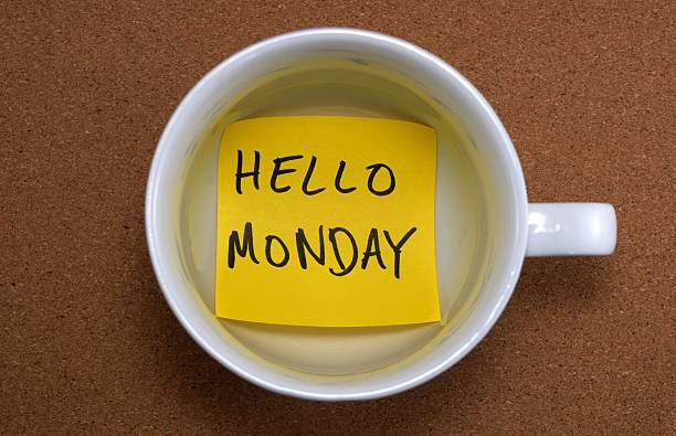hello monday - monday motivation stock photos and pictures