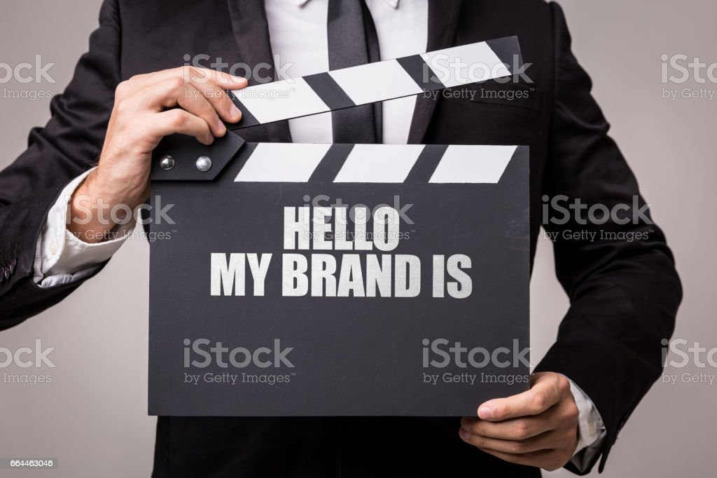 Hello My Brand Is stock photo
