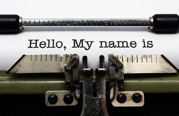 Hallo, mein name ist – Foto