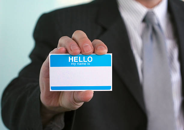 hallo, mein name ist. - hello stock-fotos und bilder