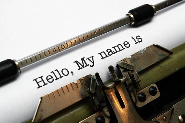 hallo, mein name ist - hello stock-fotos und bilder