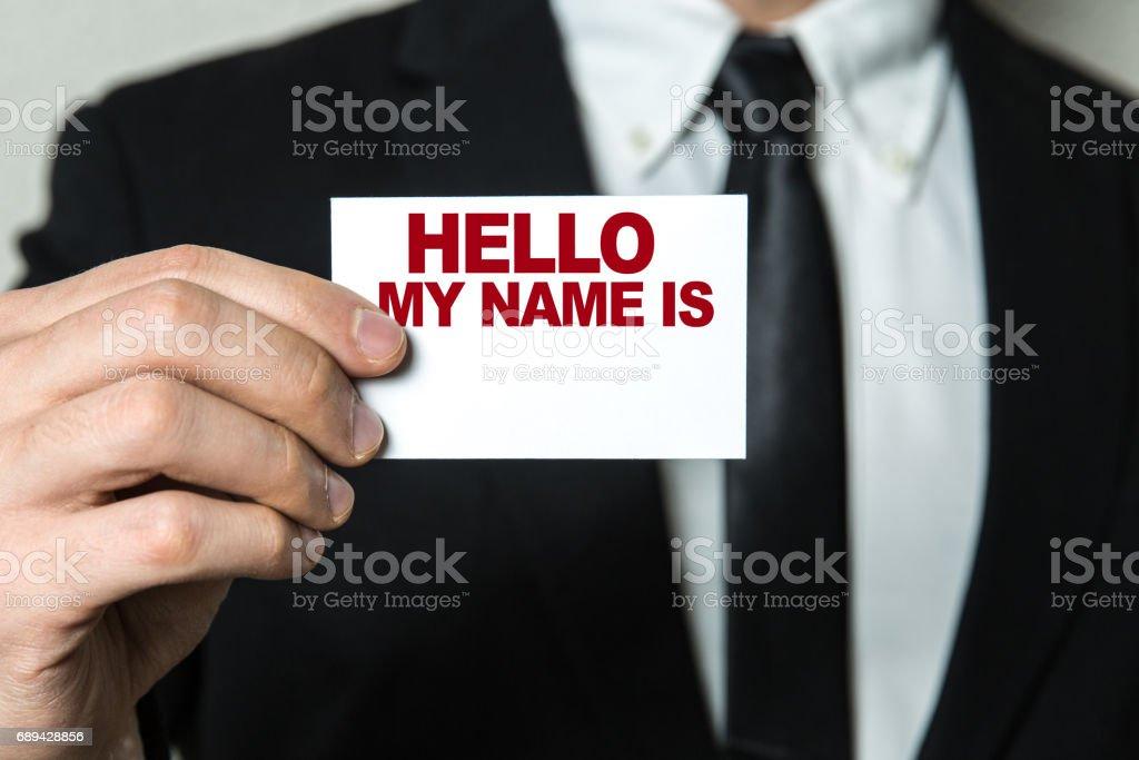 Hello My Name Is... stock photo