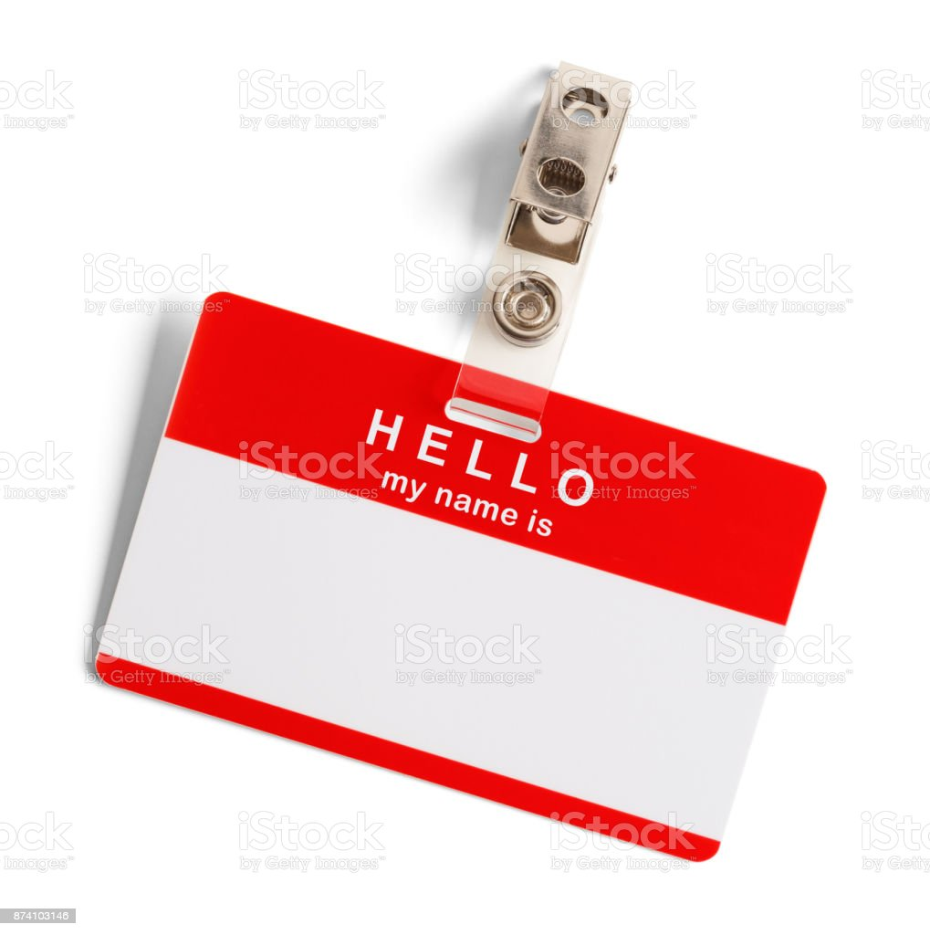 Hello My Name Is - foto de stock