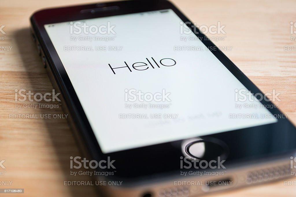 Hello stock photo