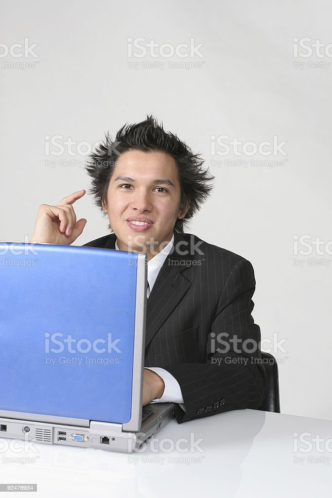 Hello says the businessman royalty-free stock photo
