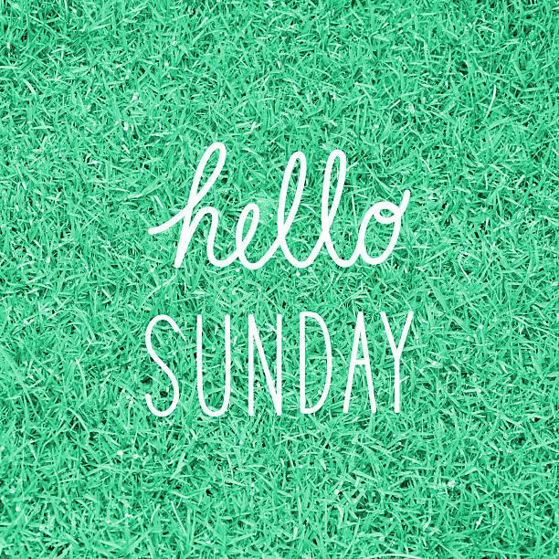 Hello Sunday greeting stock photo