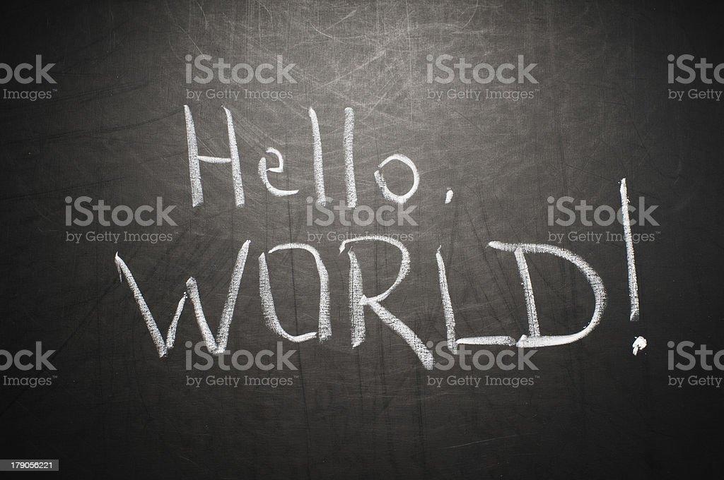 Hello, world! royalty-free stock photo