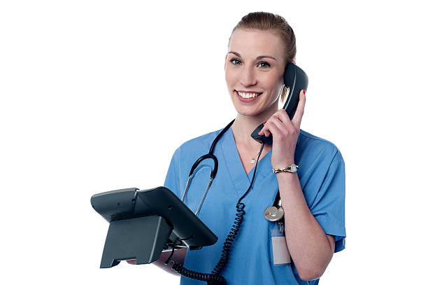Hello, your appointment is confirmed. stock photo