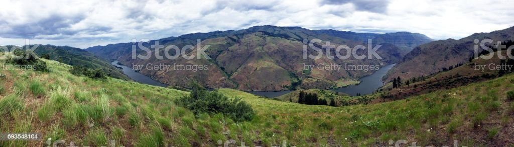 Hells Canyon from Kleinschmidt Grade stock photo
