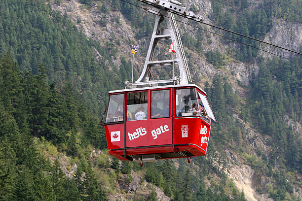 Hell's Gate Airtram stock photo