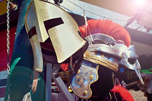 Helm of Roman Gladiator's Warrior