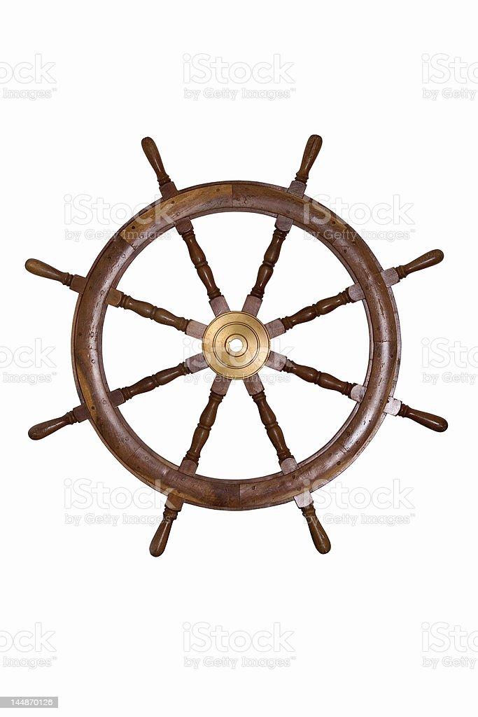 Helm Wheel royalty-free stock photo