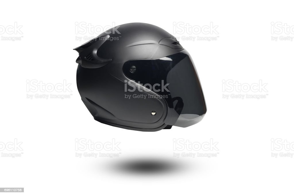 Helmet isolate on white background stock photo