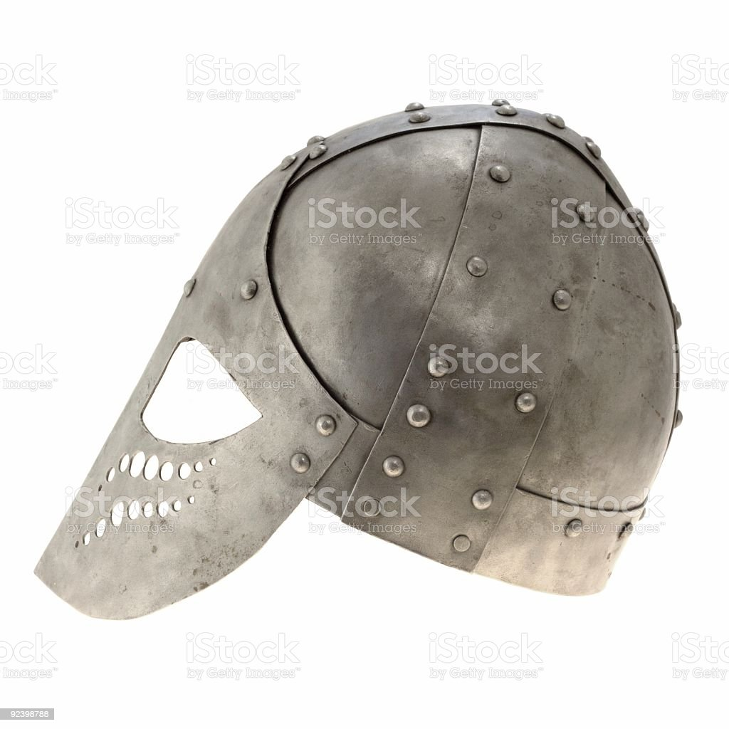 Helmet, isolated, side view royalty-free stock photo