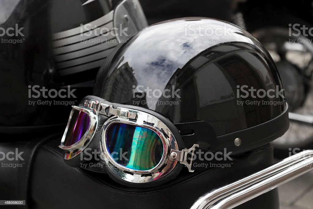 Helmet of a motorist royalty-free stock photo