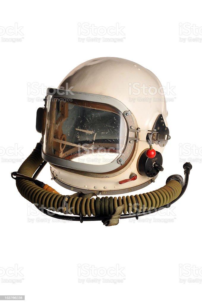 Helmet of the cosmonaut stock photo