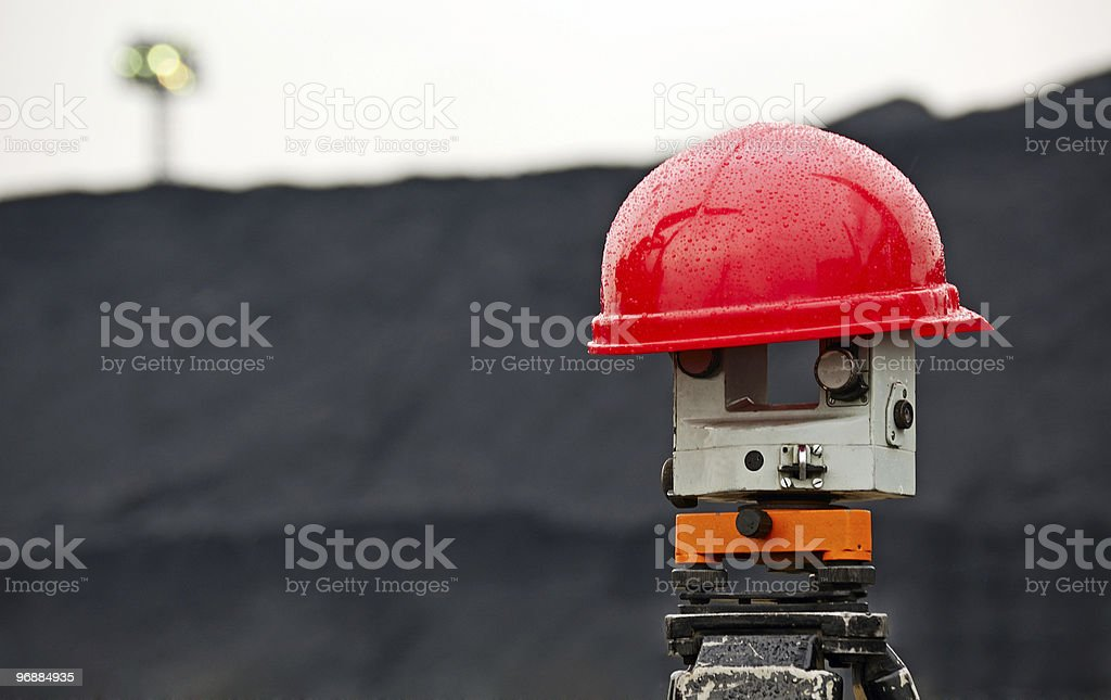 Helmet on the measuring tool royalty-free stock photo