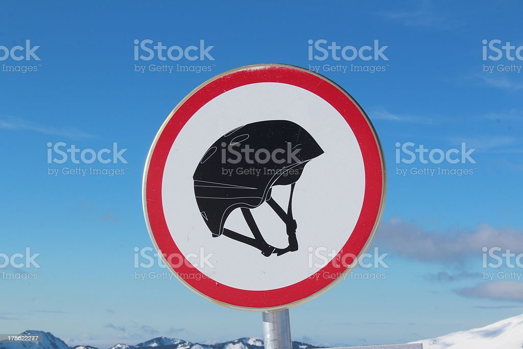 Helmet required for boarders royalty-free stock photo