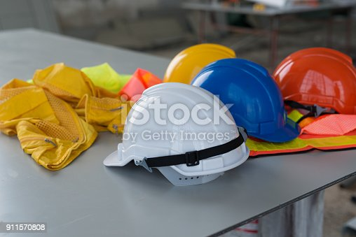 istock A helmet that sits on your desk in building construction. 911570808