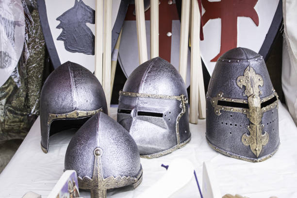 helmets medieval history - knights templar stock pictures, royalty-free photos & images