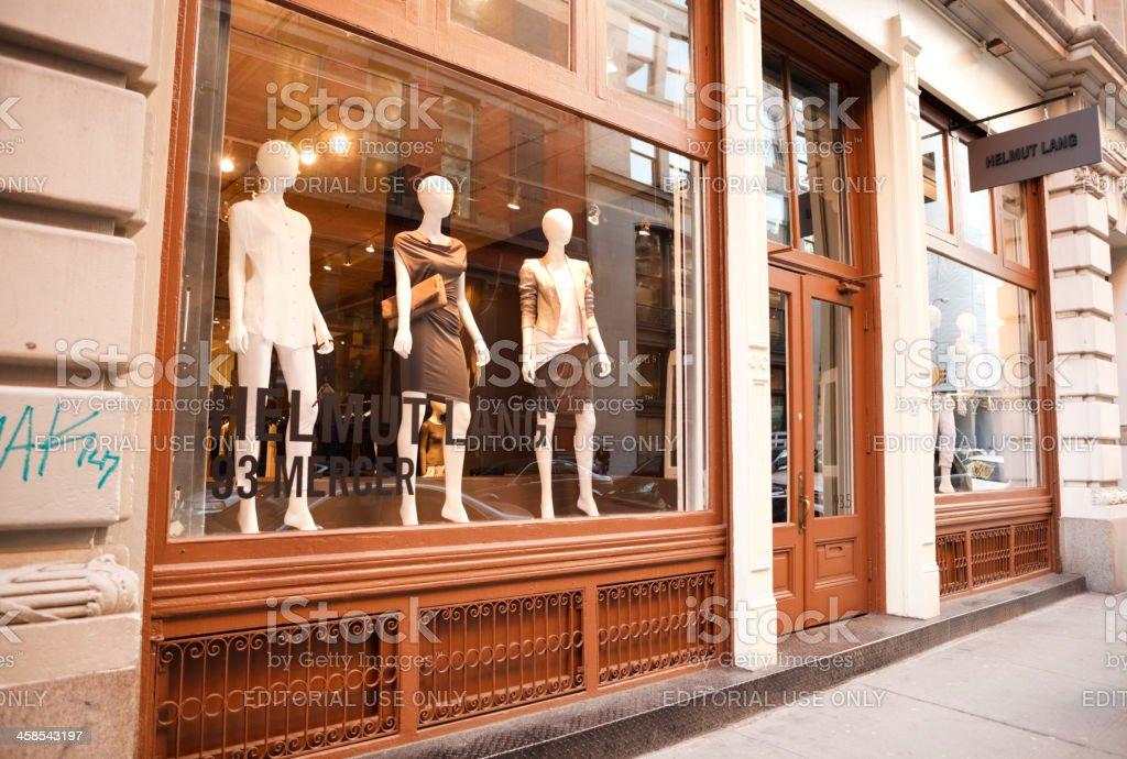Helmut Lang Shop Soho royalty-free stock photo