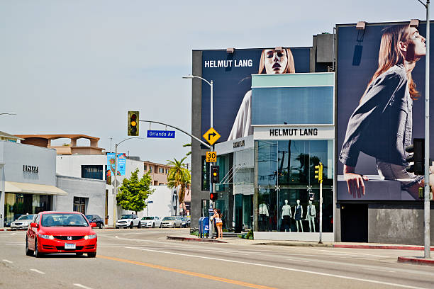 Helmut Lang Store on Melrose Avenue, Los Angeles stock photo