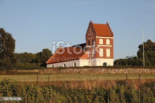 Helnæs Kirke Parish Church on the peninsula of Helnæs. The church was built in 1618