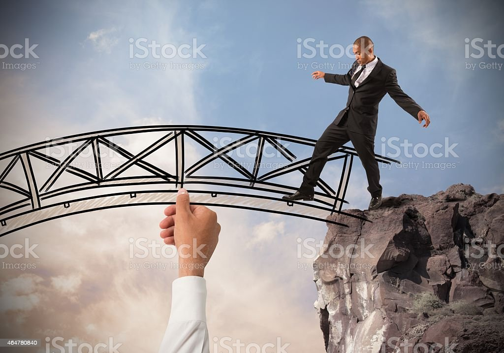 Help a businessman stock photo