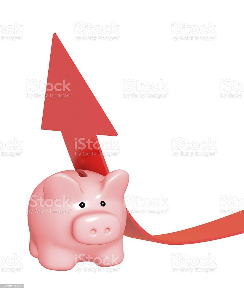 Help at financial recession royalty-free stock photo