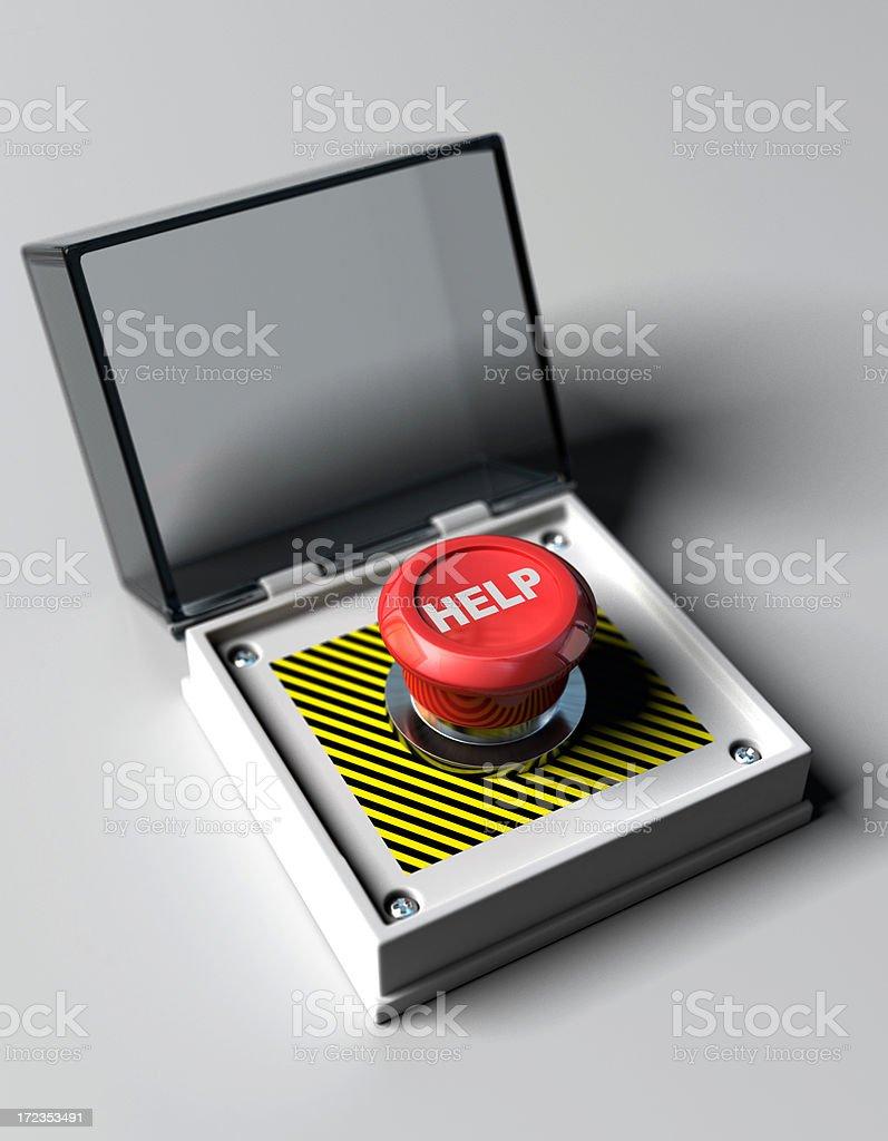 Botón de ayuda foto de stock libre de derechos