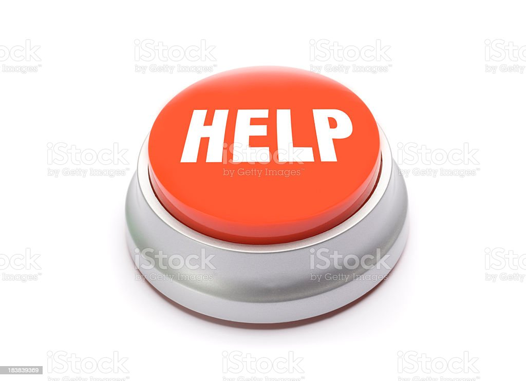 Help button royalty-free stock photo