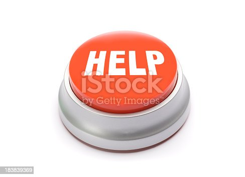 Help button isolated on white.