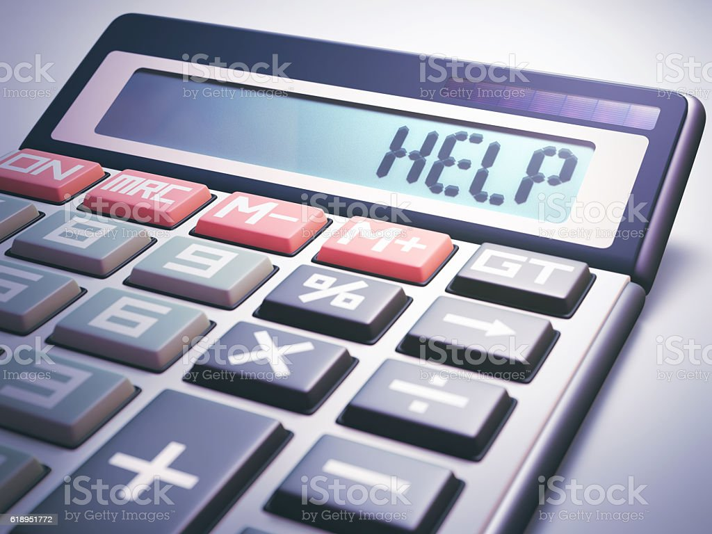 Help Calculation Business Finance stock photo