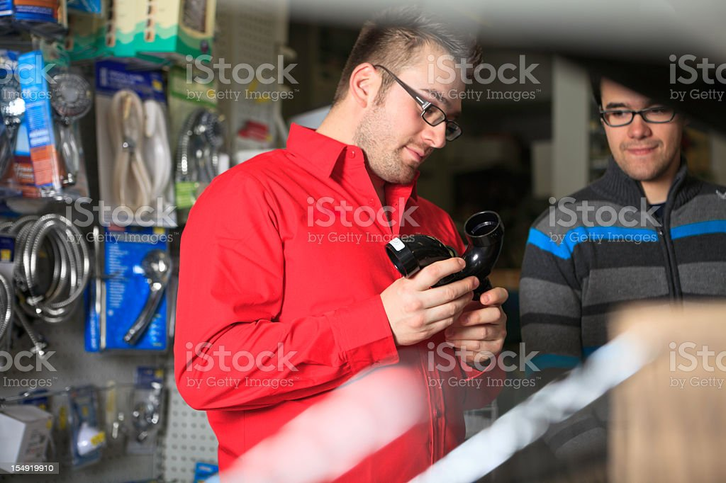 Help Client Hardware Store royalty-free stock photo