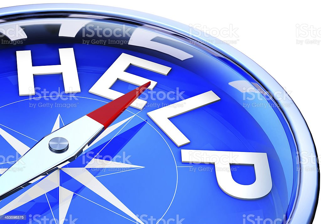 help compass royalty-free stock photo