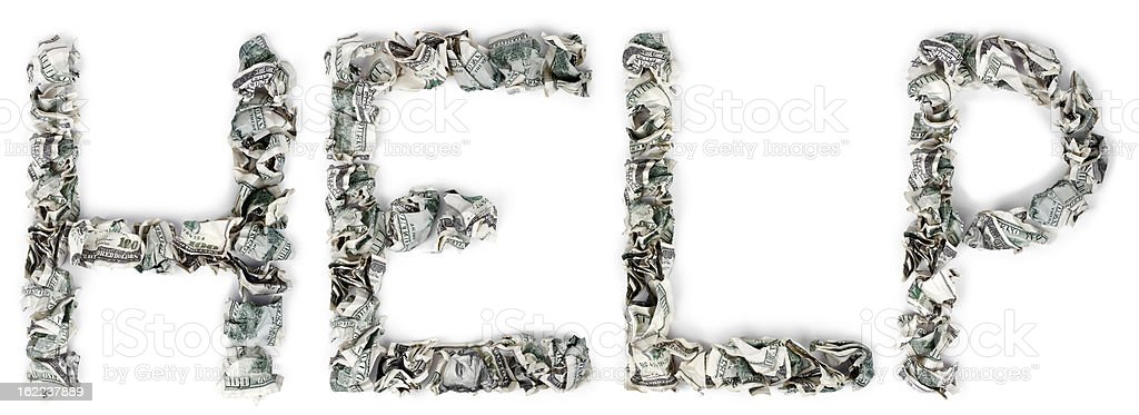 Help - Crimped 100$ Bills royalty-free stock photo