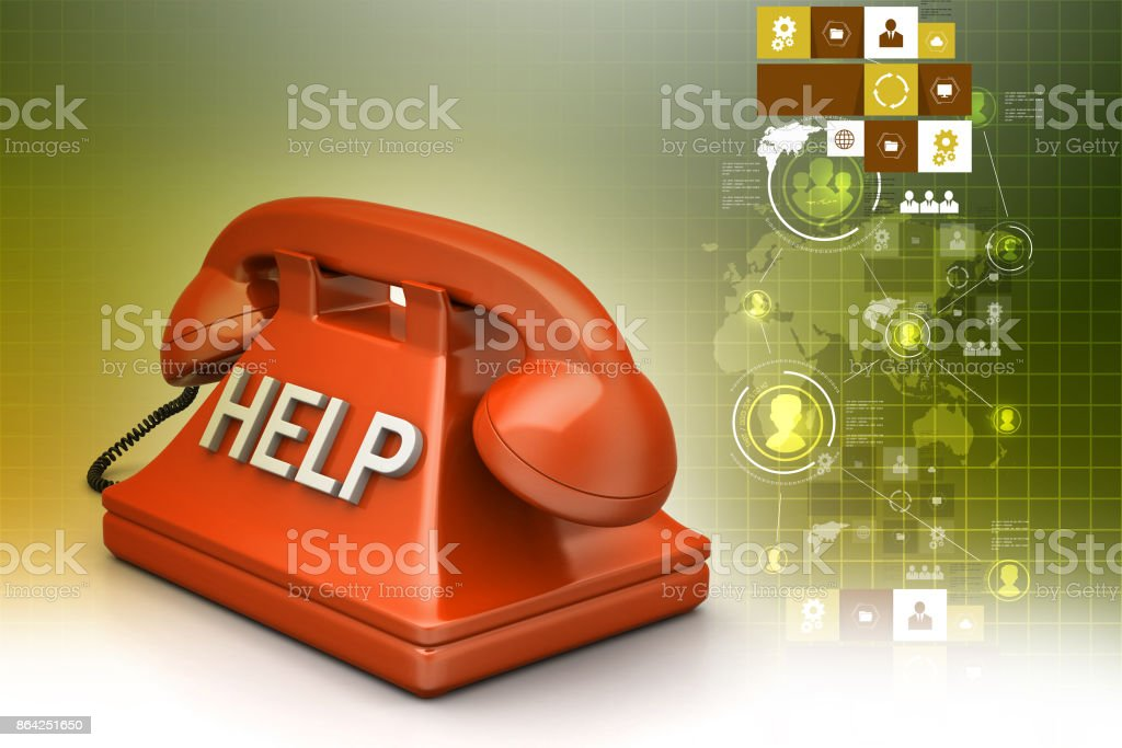 Help desk concept royalty-free stock photo