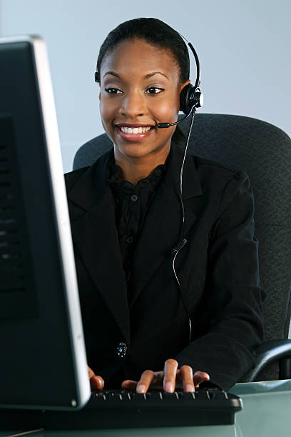 Help Desk Smiling stock photo