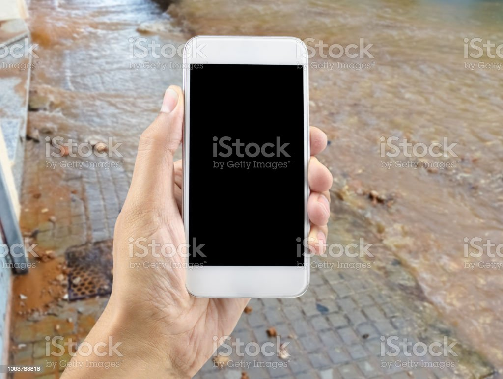 help for bad weather stock photo