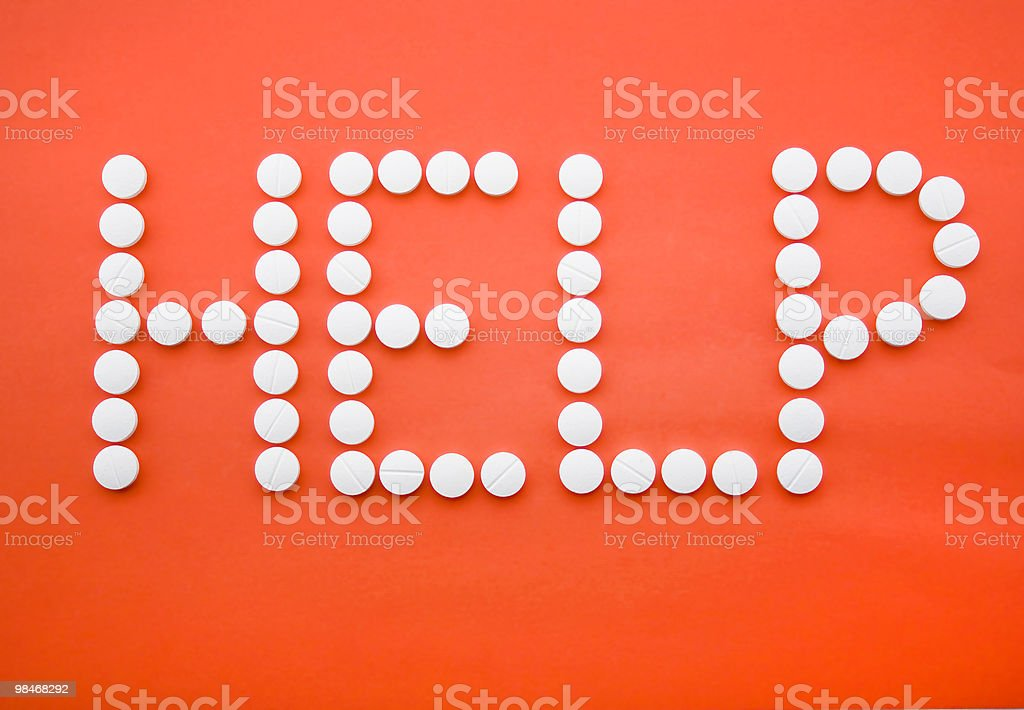 Help from pills royalty-free stock photo