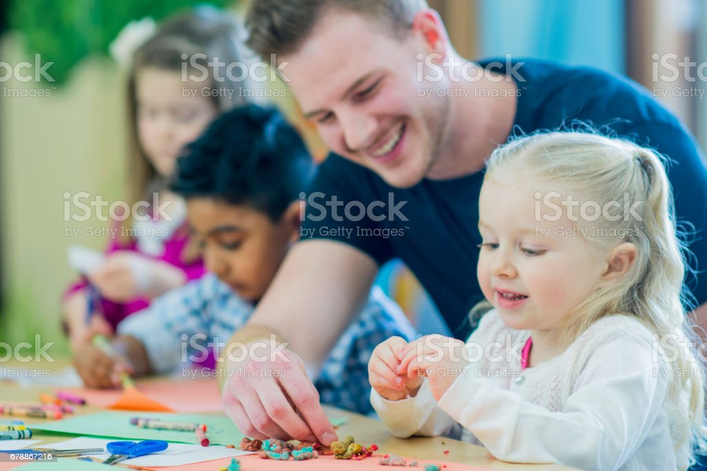 Help From Teacher - foto stock