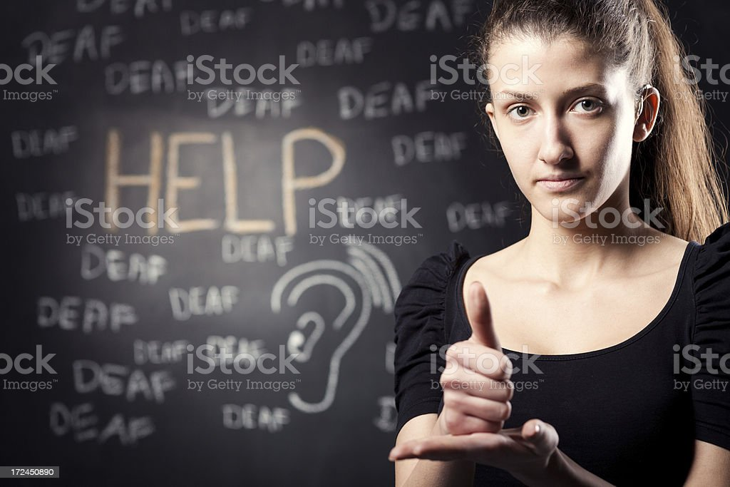 Help hand sign royalty-free stock photo