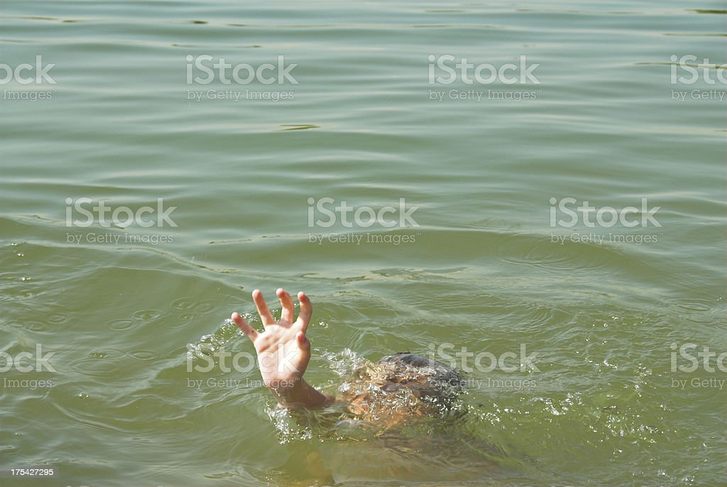 Help! I am drowning! stock photo