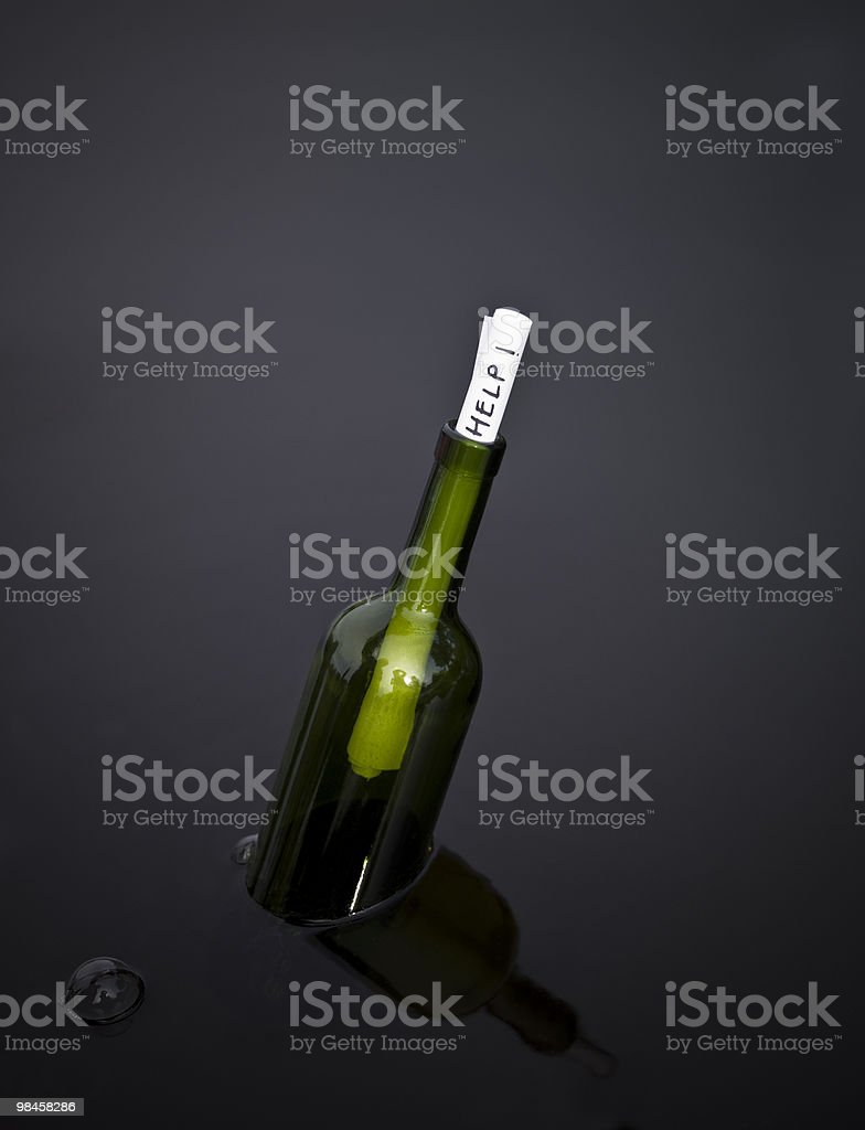 Help in a bottle royalty-free stock photo