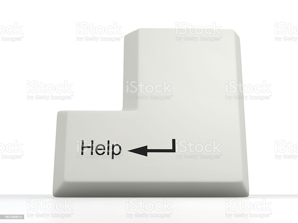 Help Key stock photo